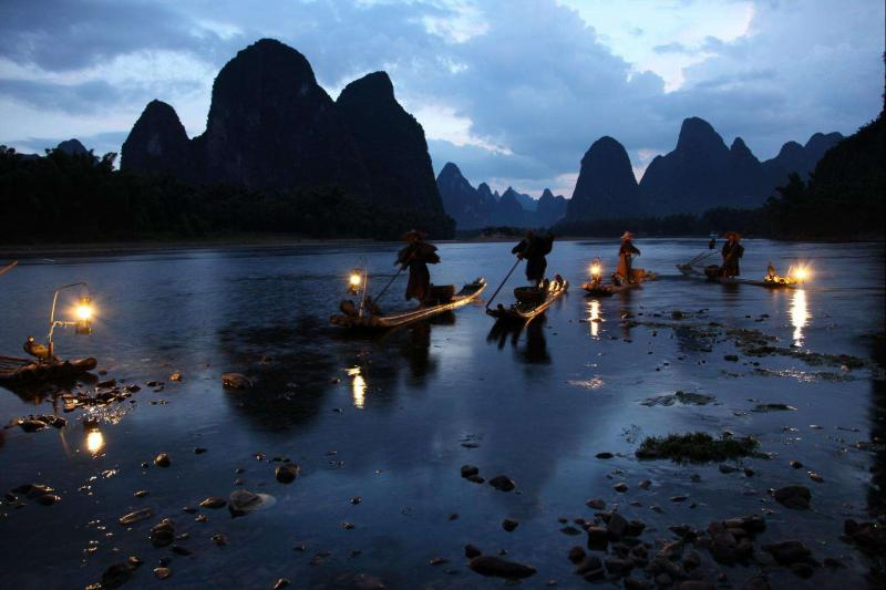 Guilin Yangshuo traditional festivals Fishing boat festival