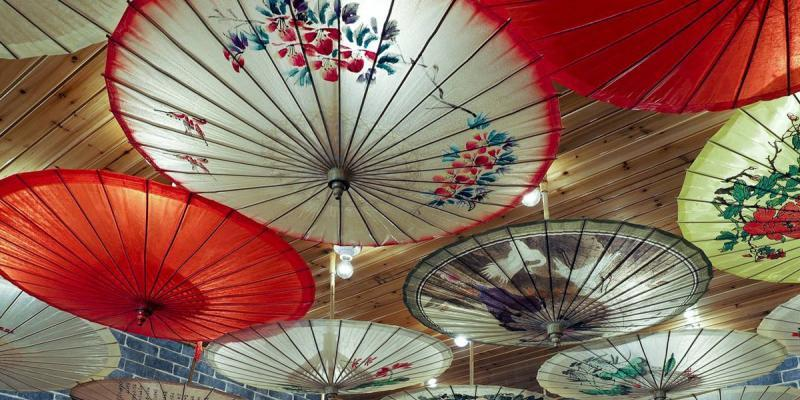Guilin local specialty Oiled paper umbrella