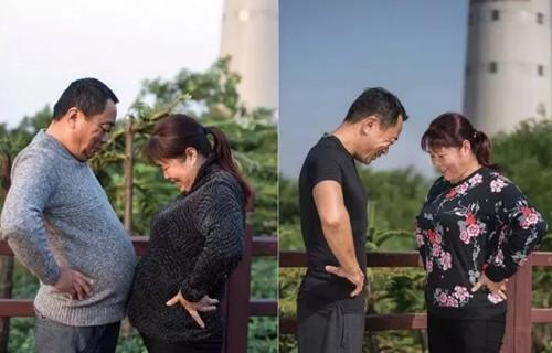 Chinese man gains 10kg to help dad lose weight – and the photos of their transformation are incredib
