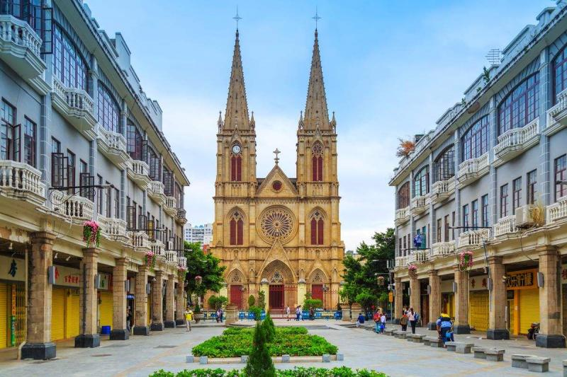 How do you go to the sacred heart cathedral in guangzhou?