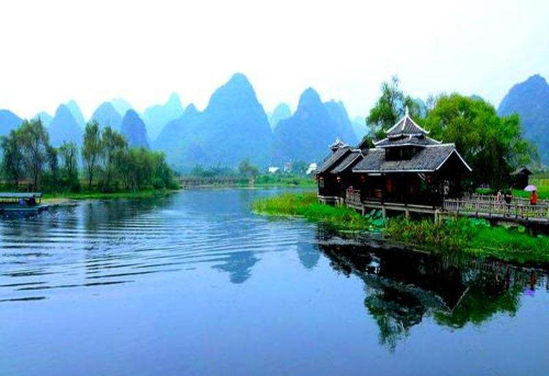 From Guilin to Yangshuo West Street to the land of idyllic beauty line